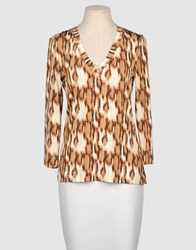 Just Cavalli Topwear Long Sleeve T Shirts Women Brown