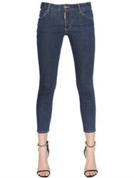 Dsquared Twiggy Medium Waist Cropped Denim Jeans