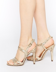 Call It Spring Huguette Strappy Heeled Sandals Champagne