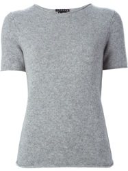 Theory Short Sleeve Knit Top Grey