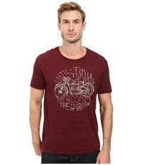 Lucky Brand Thrill Of Speed Graphic Tee Port Royale Men's T Shirt Burgundy