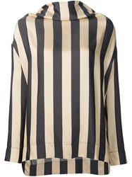 Vivienne Westwood Anglomania Striped Blouse Nude And Neutrals