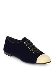 Salvatore Ferragamo Captoe Oxfords Navy