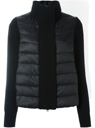 Moncler Padded Knitted Cardigan Black