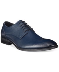 Alfani Men's Spence Saffiano Lace Up Oxfords Only At Macy's Men's Shoes Navy