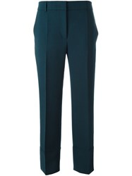 Cedric Charlier Tailored Straight Fit Trousers Blue