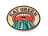 Eat Green Iron On Patch By Mokuyobithreads On Etsy