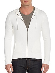 Saks Fifth Avenue Modern Fit Waffle Lined Hoodie Chalk