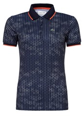 Lacoste Sport Polo Shirt Navy Blue White Mango Tree Red Dark Blue