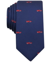 Bar Iii Men's Auto Neat Skinny Tie Only At Macy's Red