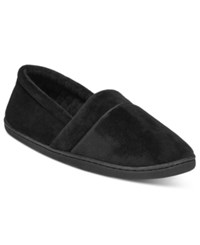 Charter Club Microvelour Memory Foam Slippers Only At Macy's Black