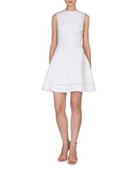 Victoria Beckham Sleeveless Fit And Flare Dress White