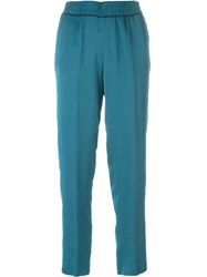 Forte Forte Slim Cropped Trousers Blue