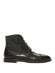 Dolce And Gabbana Marsala Studded Leather Boots