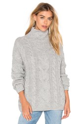 J.O.A. Long Sleeve Turtleneck Sweater Grey