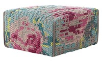 Gandia Blasco Canevas Spaces Square Flowers Pouf