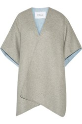 Derek Lam 10 Crosby By Wool Blend Cape Gray