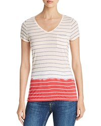 Vince Camuto Two By Heathered Stripe Dip Dye Tee Compare At 49 Guava Fruit