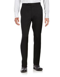 Kenneth Cole Wool Blend Straight Leg Pants Black