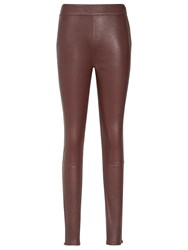 Reiss Selina Leather Leggings Juniper