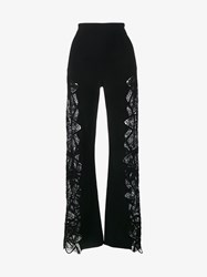 Jonathan Simkhai Lace Panelled Trousers Black