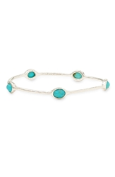 Ippolita 'Rock Candy' 5 Stone Blue Topaz Bangle Online Only Silver Turquoise