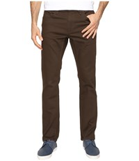 Volcom Vorta Twill Pant Dark Chocolate Men's Casual Pants Brown