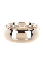14K White Gold 8Mm Band Ring Metallic