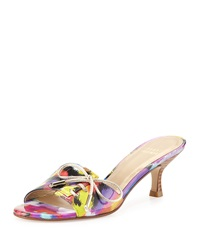 Stuart Weitzman Tablet Patent Bow Slide Bright