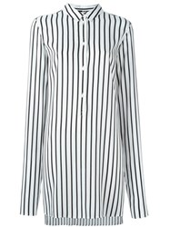 Mcq By Alexander Mcqueen Striped Tunic White