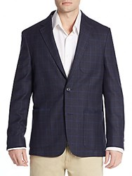 Vince Camuto Regular Fit Plaid Wool Blend Sportcoat Multi