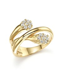 Bloomingdale's Diamond Two Stone Twist Ring In 14K Yellow Gold .30 Ct. T.W.