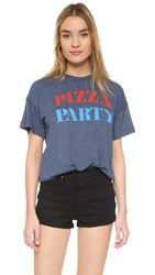 Wildfox Couture The Pizza Party Pullover After Midnight Blue