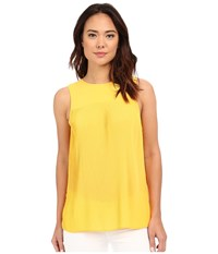 Michael Michael Kors Solid Pleated Top Sunflower Women's Clothing Yellow