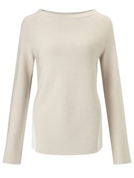 Marella Black Ribbed Jumper Cream