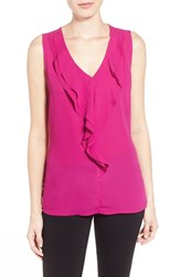 Women's Dex Ruffle V Neck Top