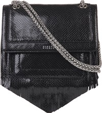 Claudie Pierlot Angela Leather Shoulder Bag Noir