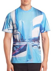 Opening Ceremony La Times Short Sleeve Tee City Blue