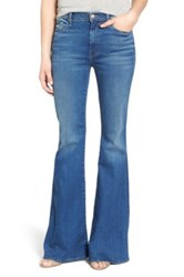 Mother 'The Super Cruiser' High Rise Flare Jeans Blue Moon