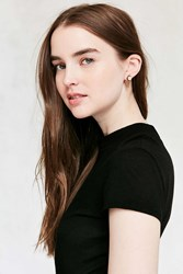 Urban Outfitters Genuine Moonstone Front Back Earring Gold