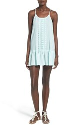 Junior Women's Rip Curl 'Love And Surf' Cover Up Dress Aqua