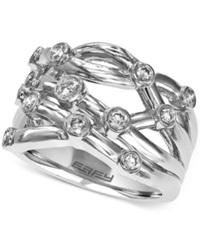 Effy Collection Effy Diamond Woven Ring 1 2 Ct. T.W. Iin 14K White Gold