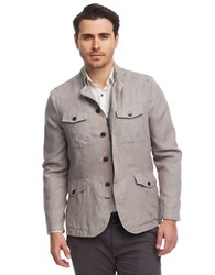 Kenneth Cole Linen Military Blazer Seagull