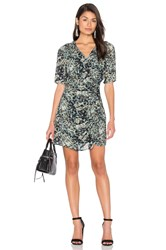 Ikks Paris Long Sleeve Jungle Print Wrap Dress Sage
