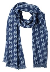 Hackett London Scarf Blue