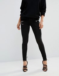 Blank Nyc Zip Detail Skinny Jeans Private Party Black