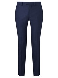 John Lewis Kin By Lux Nixon Crepe Flannel Slim Fit Suit Trousers Blue