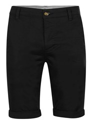 Topman Black Long Length Stretch Skinny Chino Shorts