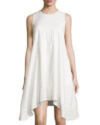 Nanette Nanette Lepore Lace Hem Sleeveless Swing Dress Ivory Igloo