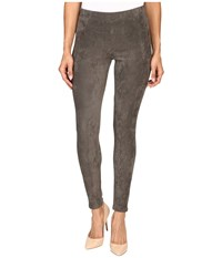 Karen Kane Faux Suede Pants Slate Women's Casual Pants Metallic